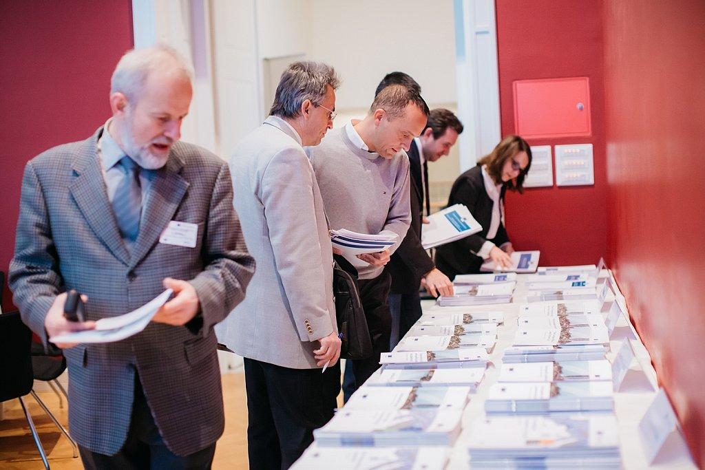 Event participants selecting publications