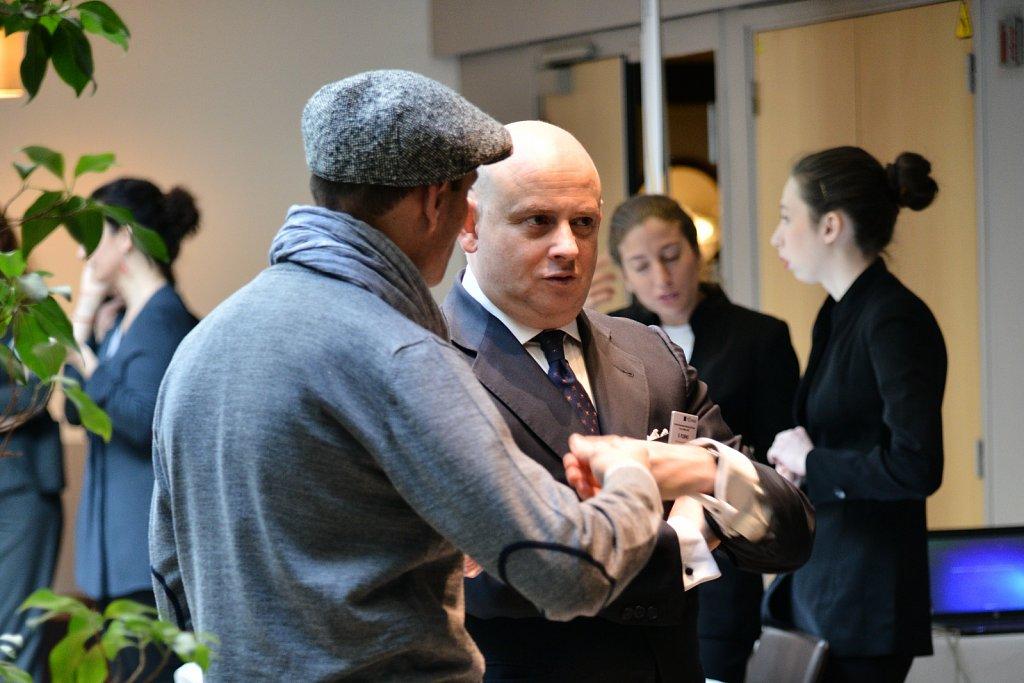 Bruno Robino and event participant