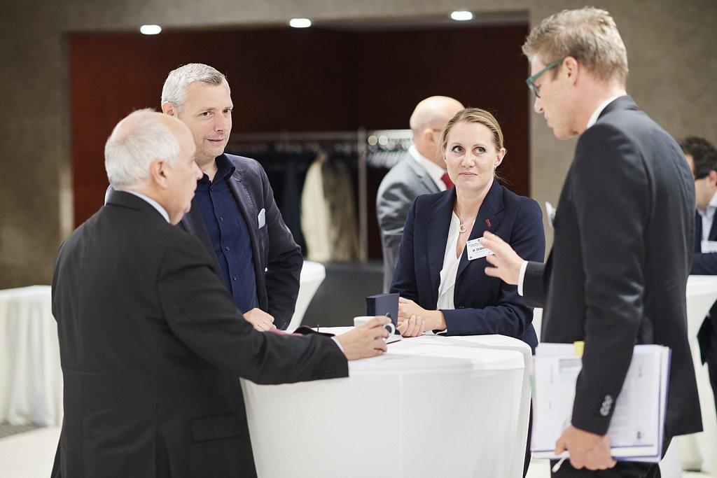 Ms Miglena Dobreva, Mr Stefan Appel, Mr Charles Hamilton and event participant